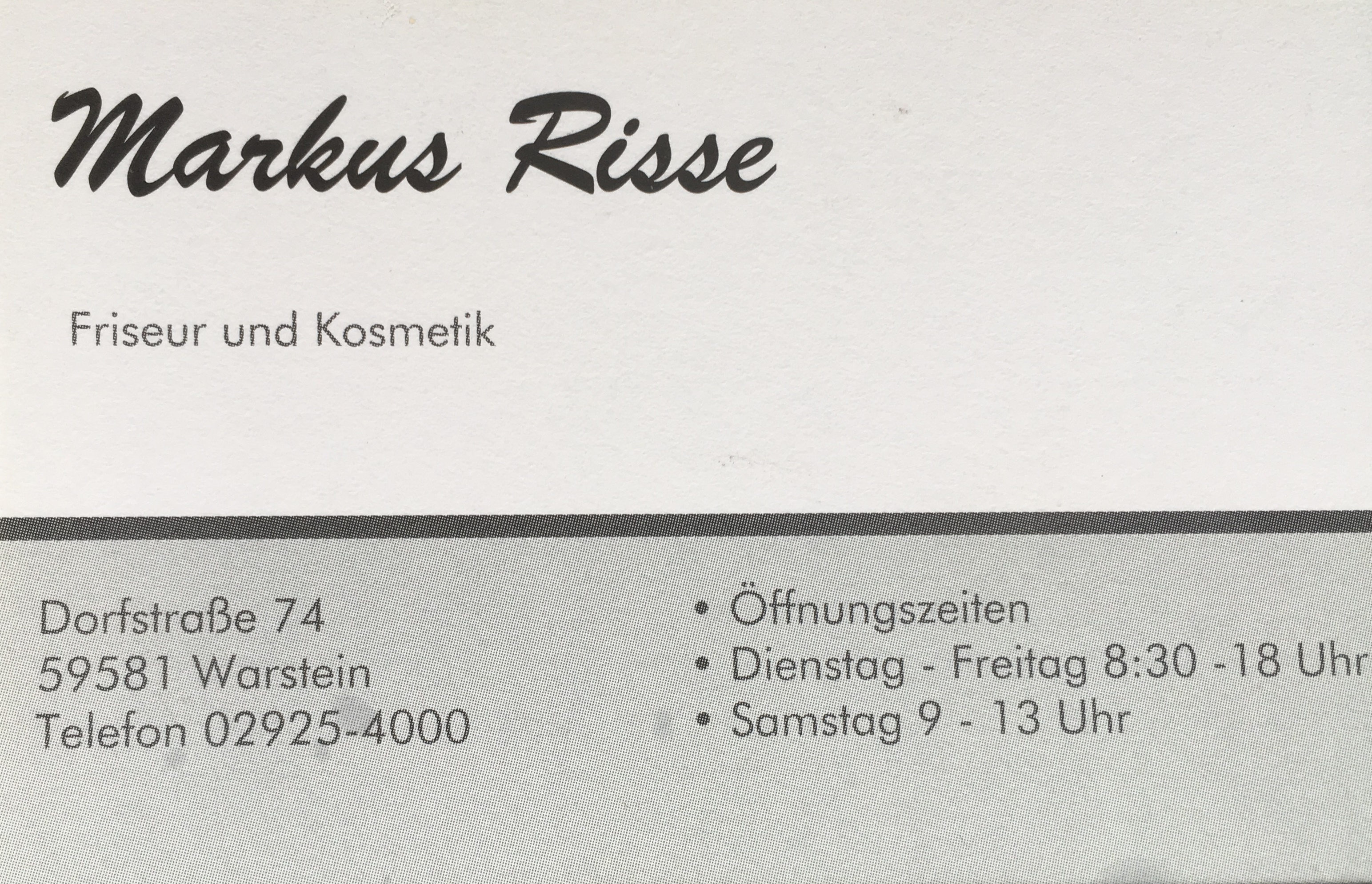 Markus Risse Friseur & Kosmetik